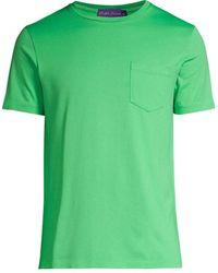 Ralph Lauren Purple Label Jersey Crewneck T-shirt - Green