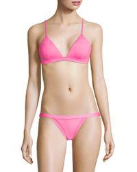 MILLY - Maglificio Ripa Capri Bikini Top - Lyst