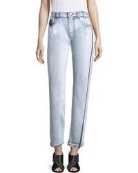 3.1 Phillip Lim - High-rise Zip Detail Straight-leg Jeans - Lyst