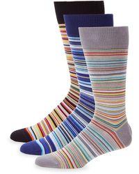 Paul Smith - 3-pack Signature Stripe Socks - Lyst