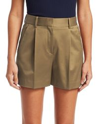 Theory - Hudson Pleated Twill Shorts - Lyst