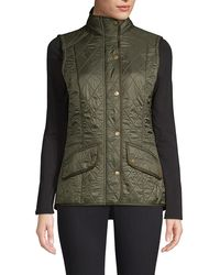 Barbour Cavalry Diamond - Quilted Gilet - Green