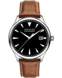 Movado - Men's Heritage Series Calendoplan Watch - Brown Black - Lyst