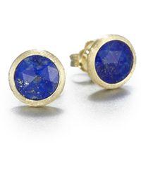 Marco Bicego Jaipur Resort Lapis & 18k Yellow Gold Stud Earrings - Blue