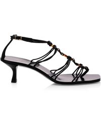 Cult Gaia Ziba Leather Sandals - Black