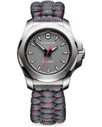 Victorinox - I.n.o.x. Analog Paracord Bracelet Watch - Lyst
