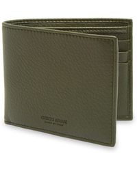 Emporio Armani - Grained Leather Wallet - Lyst