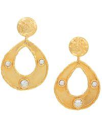 Sylvia Toledano Thalita 22k Goldplated & Swarovski Crystal Drop-hoop Earrings - Metallic