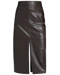 A.L.C. Moss Faux-leather Pencil Skirt - Black