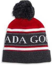 Canada Goose - Merino Wool Logo Printed Pom Hat - Lyst