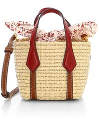 Tory Burch Nano Perry Straw Tote - Multicolor