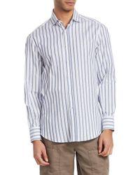 Brunello Cucinelli - Striped Button-front Shirt - Lyst