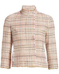 Akris Punto Cropped Tweed Jacket - Natural