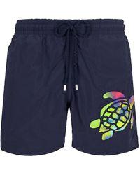 Vilebrequin Motu Turtle Swim Shorts - Blue