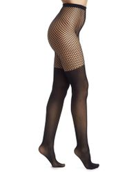 15c63be1a Calzedonia Maxi Knee-high Socks in Black - Lyst