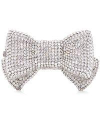 Judith Leiber Bow Crystal Pillbox - Metallic