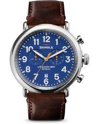 Shinola The Runwell Chronograph Watch - Brown