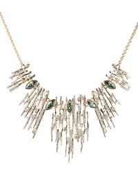 Alexis Bittar - Navette Crystal Spiked Bib Necklace - Lyst
