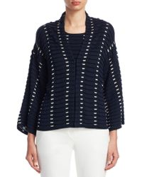 Emporio Armani | Textured Silk & Cashmere Cardigan | Lyst