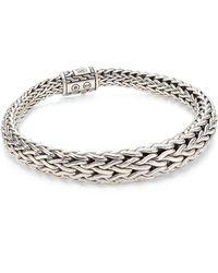 John Hardy - Classic Chain Silver Graduated Bracelet - Lyst