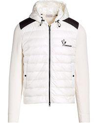 Moncler - Mixed-media Zip-front Knit Jacket - Lyst
