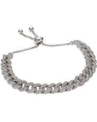 Fallon Pavé Curb Chain Bracelet - Metallic