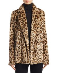 Theory - Clairene Leopard Print Faux Fur Blazer - Lyst