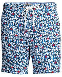 Robert Graham Floral Swim Trunks - Blue