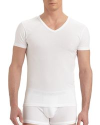 Emporio Armani Stretch Cotton V-neck T-shirt - White