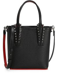 Christian Louboutin Mini Cabata Leather Tote - Black