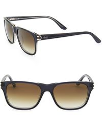 Cartier - Women's Essentiel Rectangular Sunglasses - Petrol Honey - Lyst