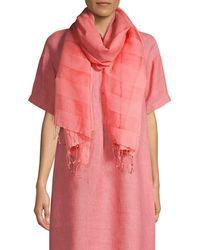 Eileen Fisher Organic Cotton-blend Scarf - Pink