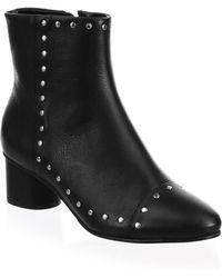 Rebecca Minkoff - Isley Leather Stud Booties - Lyst