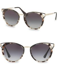 Prada - 54mm Cutout Cat Eye Sunglasses - Lyst