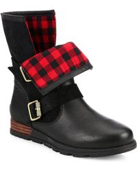 Sorel | Major Leather & Suede Moto Boots | Lyst