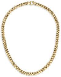 Adina Reyter Heavy Gold 14k Yellow Gold Diamond-cut Chunky Chain Necklace - Metallic