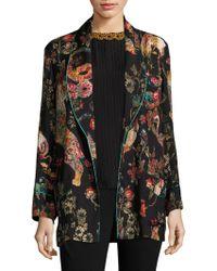 Etro - Wool Floral-print Jacket - Lyst
