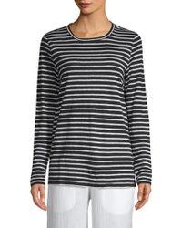 Eileen Fisher - Seaside Long Sleeve Stripe Top - Lyst