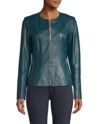 Lafayette 148 New York - Courtney Leather Jacket - Lyst