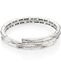 John Hardy - Bamboo Small Sterling Silver Coil Bracelet - Lyst