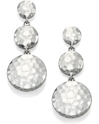 John Hardy - Palu Sterling Silver Disc Triple Drop Earrings - Lyst