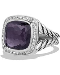 David Yurman - Albion Ring With Black Orchid And Diamonds - Lyst