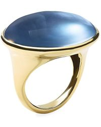 Ippolita Rock Candy® 18k Yellow Gold & Onyx Cabochon Triplet Ring - Metallic