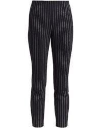 Rag & Bone Simone Pinstripe Pants - Black