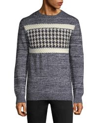 A.P.C. - Wool Check Sweater - Lyst
