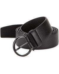 Ferragamo - Textured Leather Belt - Lyst
