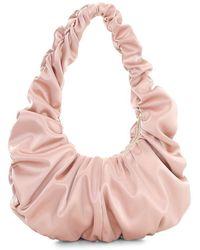 Nanushka Anja Baguette Satin Top Handle Bag - Pink
