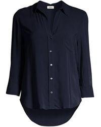 L'Agence Ryan Three-quarter Sleeve Blouse - Blue
