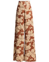 Alexis Haruna Floral Wide-leg Pants - Multicolor