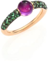 Pomellato - M'ama Non M'ama Amethyst, Tsavorite & 18k Rose Gold Ring - Lyst